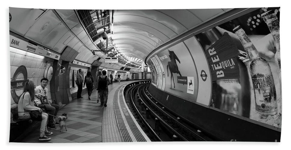 Tube Beach Towel featuring the photograph Waiting For Train by Svetlana Sewell