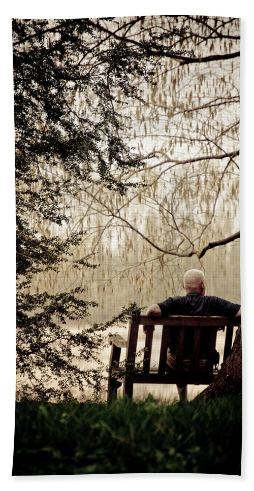 Man Beach Towel featuring the photograph Waiting On A Friend by Trish Tritz