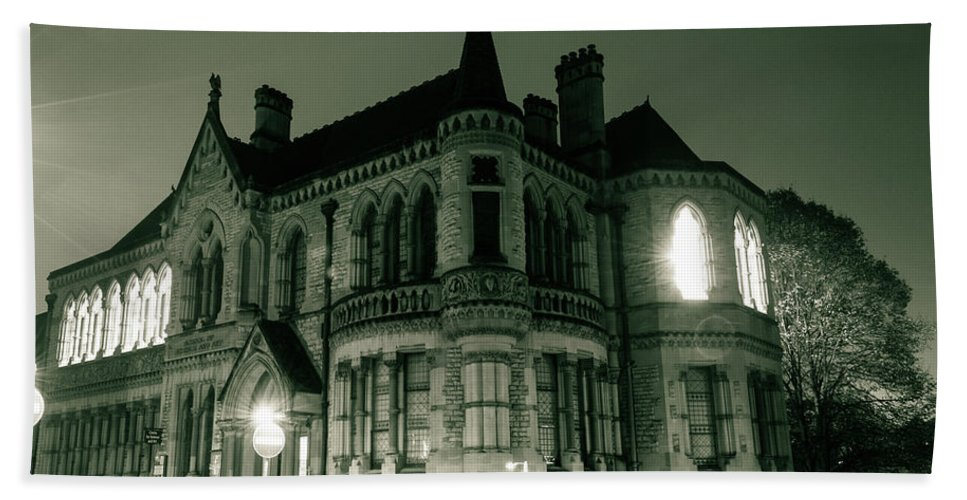 6x4 Beach Towel featuring the photograph Waldorf College, The Centre For Science And Arts By Night Stround Gloucestershire by Jacek Wojnarowski