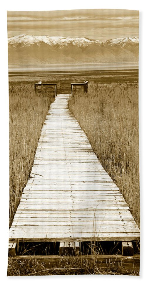 Walk Beach Towel featuring the photograph Walk With Me 1 by Marilyn Hunt