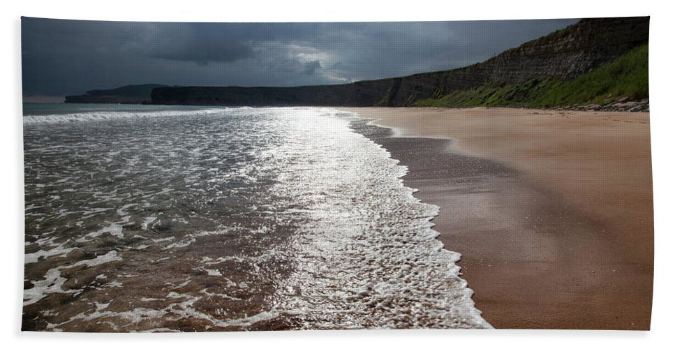 Beach Beach Towel featuring the photograph Walking On The Beach by Contemporary Art