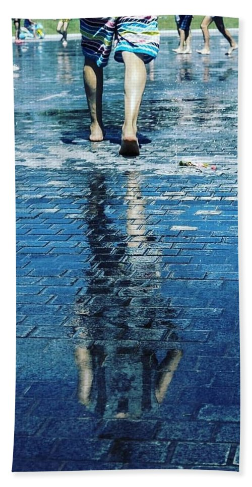 Man Beach Towel featuring the photograph Walking On The Water by Nerea Berdonces Albareda