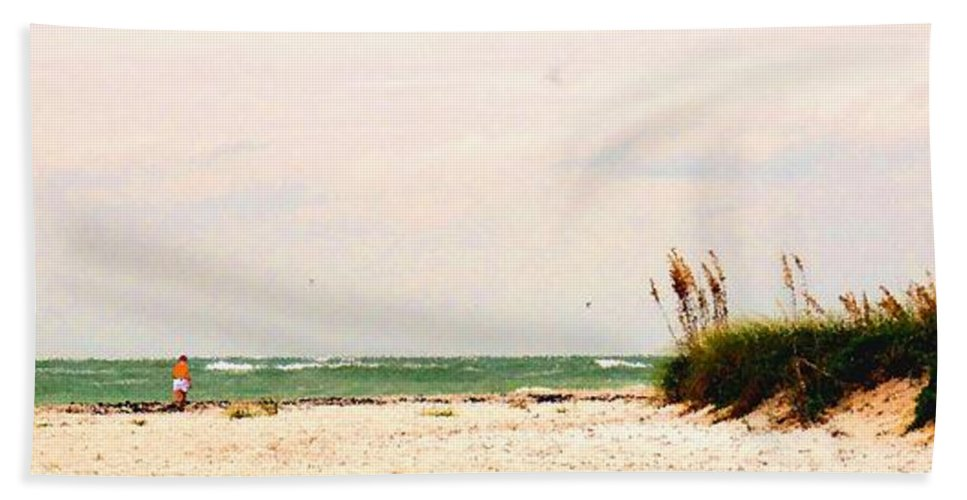 Florida Beach Towel featuring the photograph Walking The Beach by Ian MacDonald