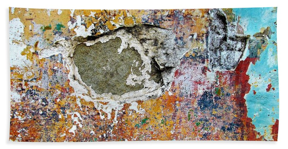 Texture Beach Towel featuring the photograph Wall Abstract 196 by Maria Huntley