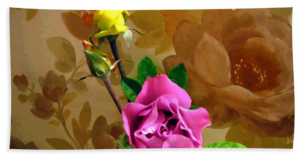 Roses Beach Towel featuring the photograph Wall Flowers by Will Borden