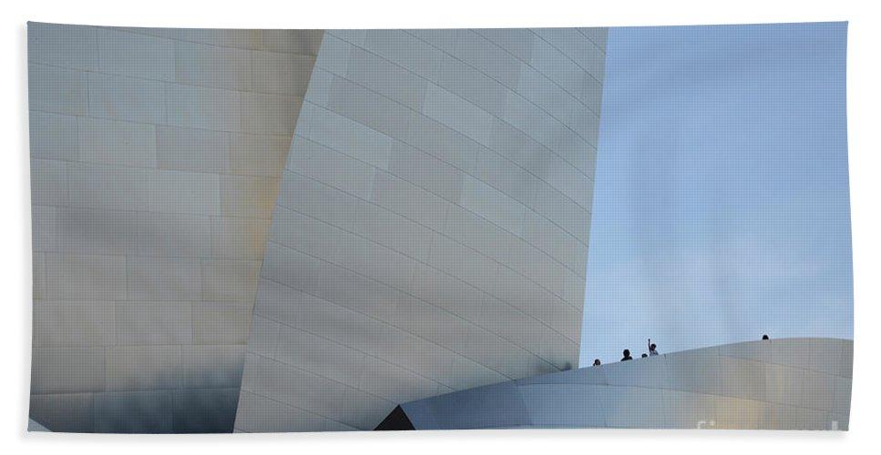 Disney Beach Towel featuring the photograph Walt Disney Concert Hall 13 by Bob Christopher