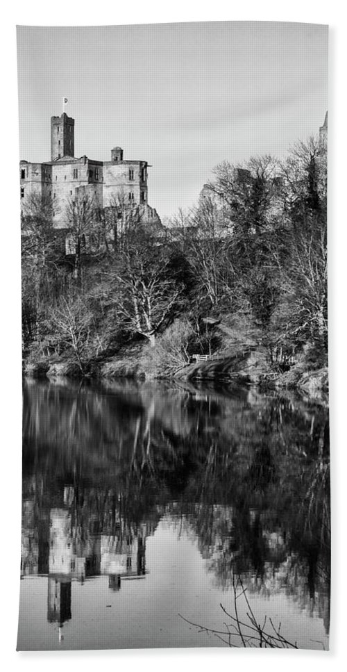 Castle Beach Towel featuring the photograph Warkworth Castle by Paul Cullen