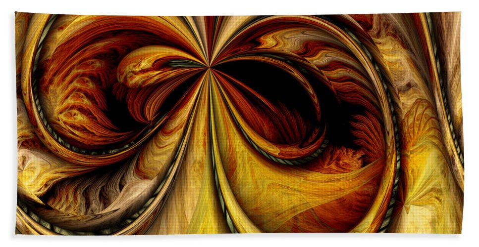 Digital Beach Towel featuring the digital art Warped Journey by Deborah Benoit