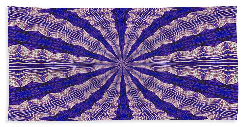 Fractal Beach Towel featuring the digital art Warped Minds Eye by Deborah Benoit