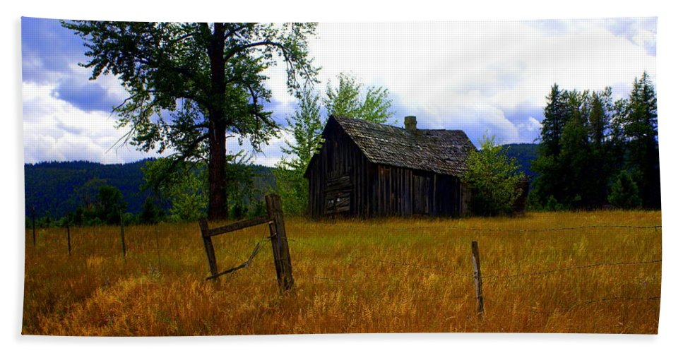 Landscape Beach Towel featuring the photograph Washington Homestead by Marty Koch