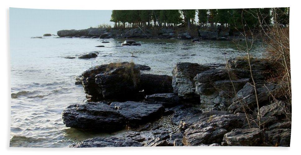 Washington Island Beach Towel featuring the photograph Washington Island Shore 1 by Anita Burgermeister