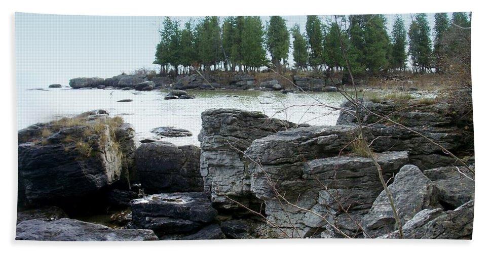 Washington Island Beach Towel featuring the photograph Washington Island Shore 3 by Anita Burgermeister