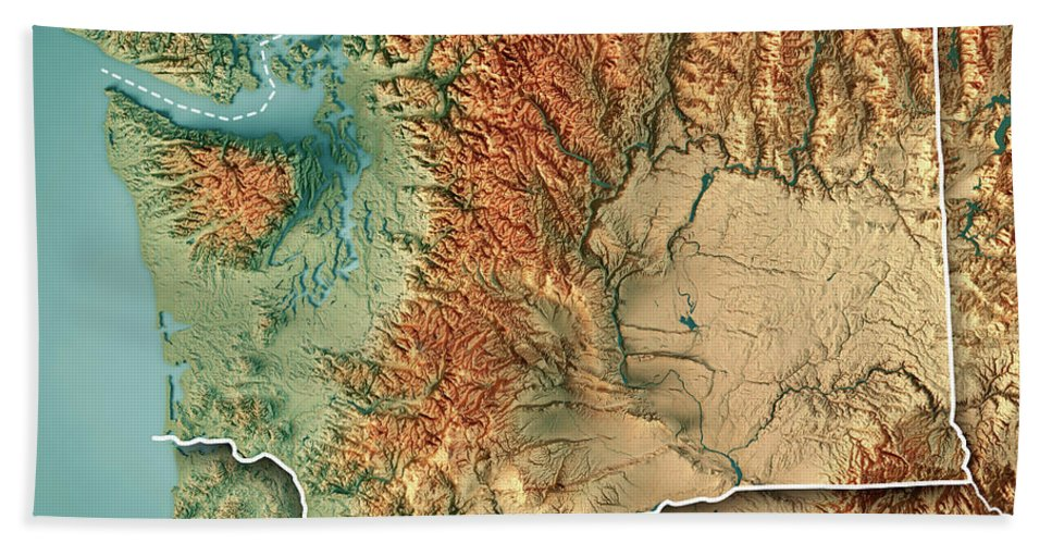 Washington State Usa 3d Render Topographic Map Border Beach Towel on washington state plat map, washington state marine map, washington state map map, washington state elevation map, washington state description, washington state map printable, washington state length, washington state aerial, washington state boundary map, washington state access, washington state highway map, washington state campsites, washington state mapquest, washington state road map screen size, washington state lidar mapping, washington state google map, washington state trails map, washington state water map, washington state soccer field,