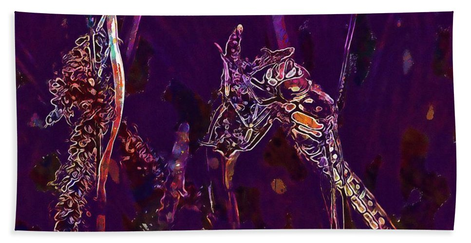 Wasp Beach Towel featuring the digital art Wasp Insect Makrom Close Up Sting by PixBreak Art