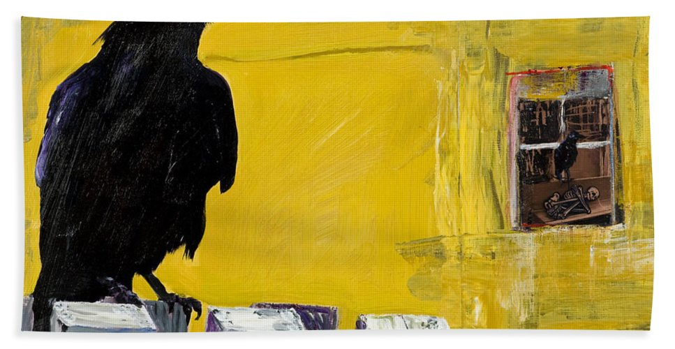 Pat Saunders-white Canvas Prints Beach Towel featuring the painting Watching by Pat Saunders-White