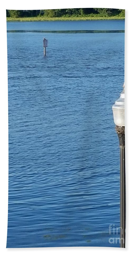 Light Beach Towel featuring the photograph Water And Light by Regina Combs