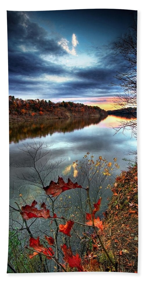 Mohawk River Beach Towel featuring the photograph Water Colors by Neil Shapiro