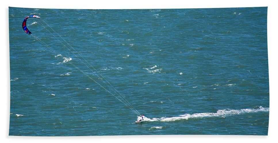 Water Beach Towel featuring the photograph Water Glider by Marilyn Hunt