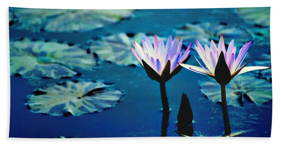 Waterscape Beach Towel featuring the photograph Water Glow by Steve Karol