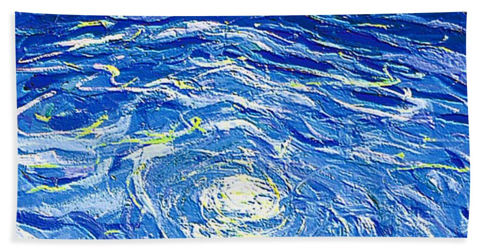 Pool Beach Towel featuring the mixed media Water In The Pool by Dragica Micki Fortuna