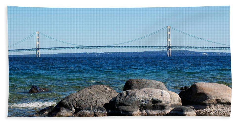 Usa Beach Towel featuring the photograph Water Line Sky Line by LeeAnn McLaneGoetz McLaneGoetzStudioLLCcom