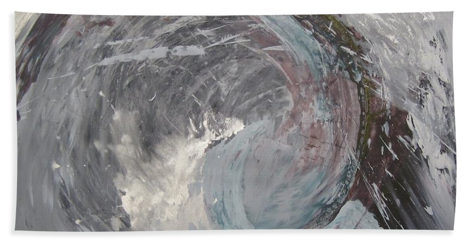 Sea Ocean Wave Abstract Beach Towel featuring the painting Water Spirit by Peta Mccabe