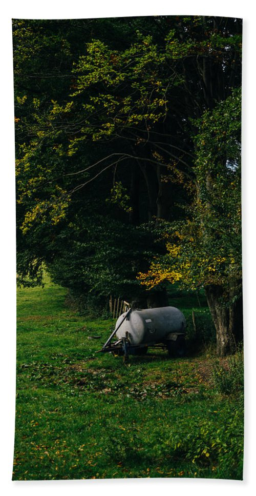 Autumn Beach Towel featuring the photograph Water Tank In A Pasture by Pati Photography