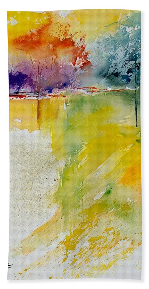 Pond Beach Sheet featuring the painting Watercolor 800142 by Pol Ledent