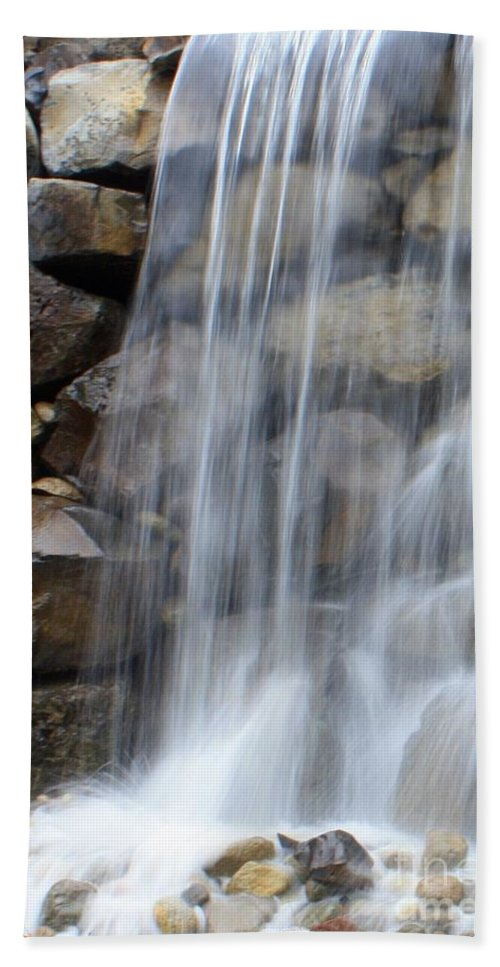 Waterfall Beach Towel featuring the photograph Waterfall 1 by Carol Groenen