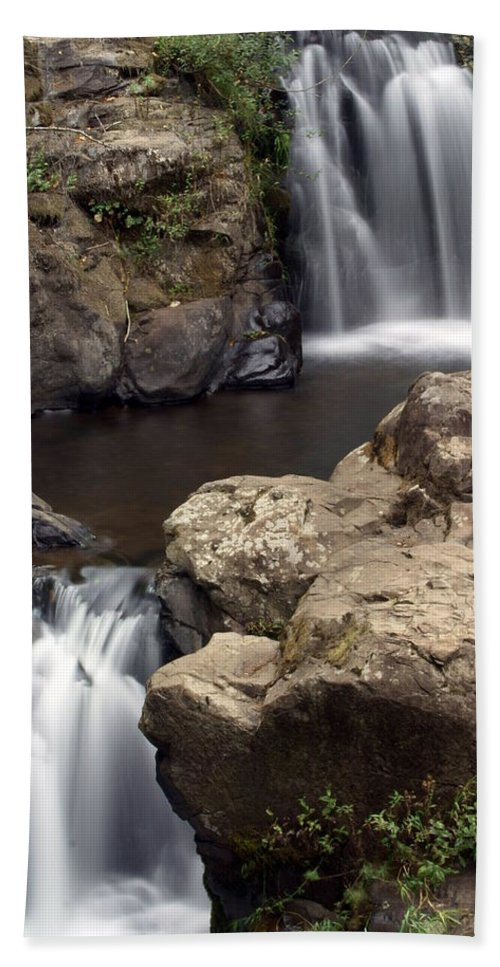 Waterfall Beach Towel featuring the photograph Waterfall 54 by Marty Koch