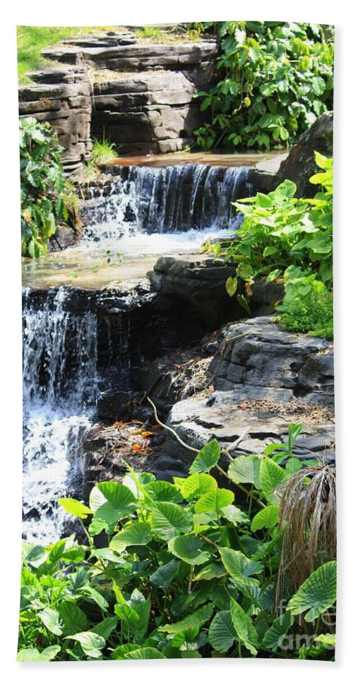 Waterfall Beach Towel featuring the photograph Waterfall by Carol Groenen