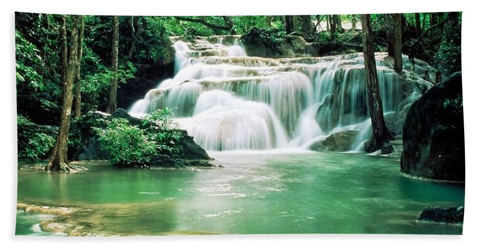Water Beach Towel featuring the photograph Waterfall by Lord Frederick Lyle Morris