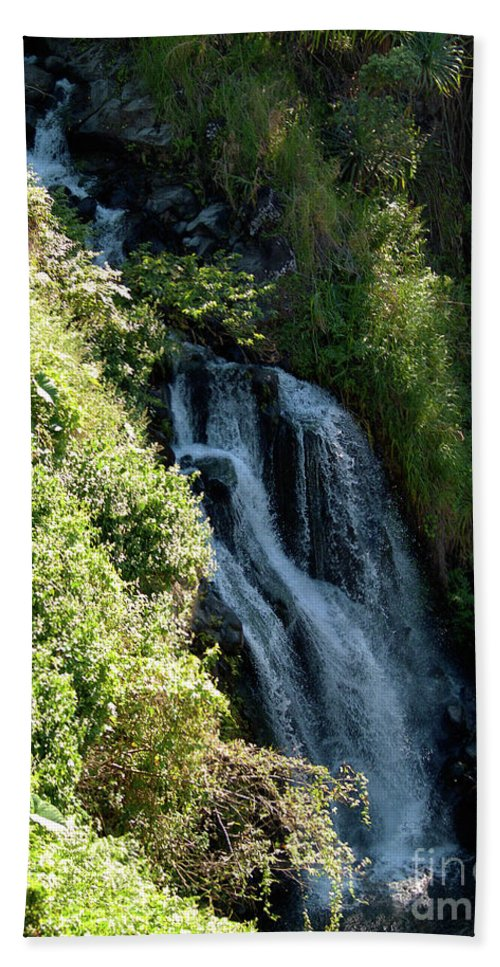 Fine Art Photography Beach Towel featuring the photograph Waterfall I by Patricia Griffin Brett