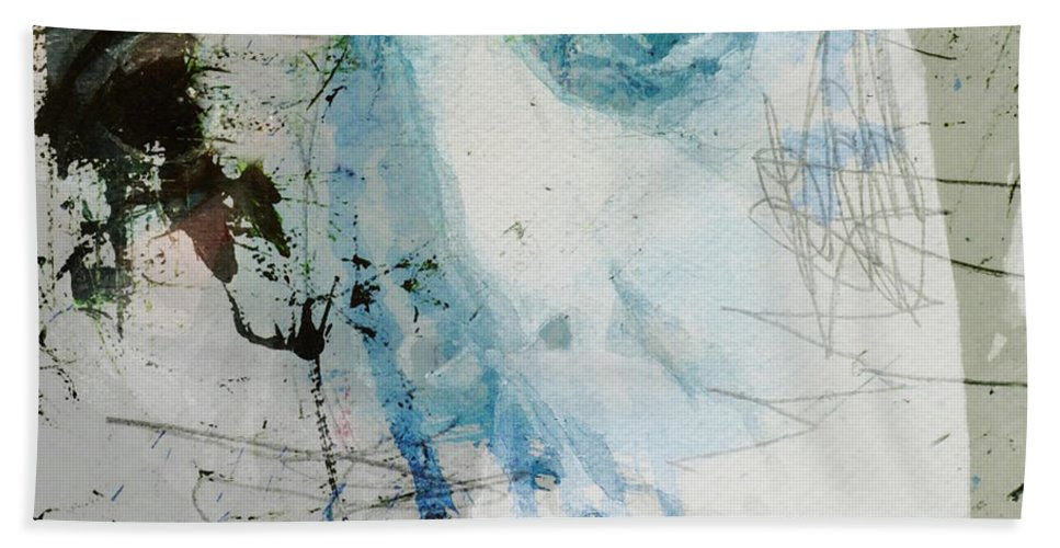 Paul Mccartney Beach Towel featuring the mixed media Waterfall by Paul Lovering