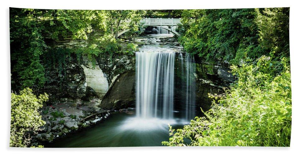 Waterfall Beach Towel featuring the photograph Waterfall by Senad Kajtezovic