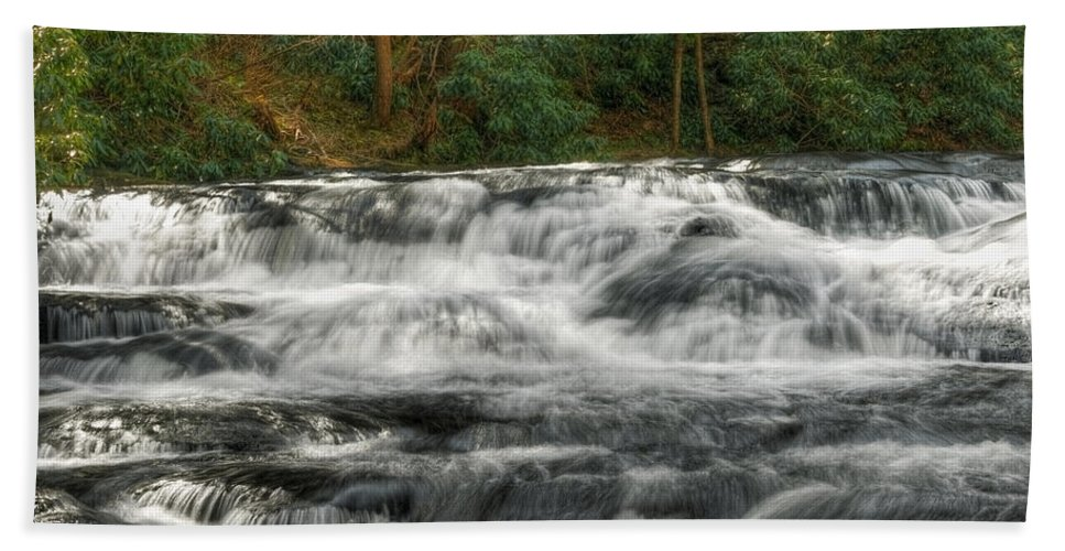 Waterfall Beach Towel featuring the photograph Waterfall03 by Svetlana Sewell