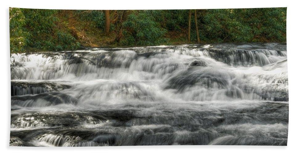 Waterfall Beach Towel featuring the photograph Waterfall03 by Svetlana Sewell