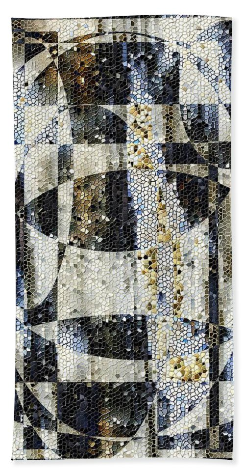Mosaic Beach Towel featuring the photograph Waterfalling by Tim Allen