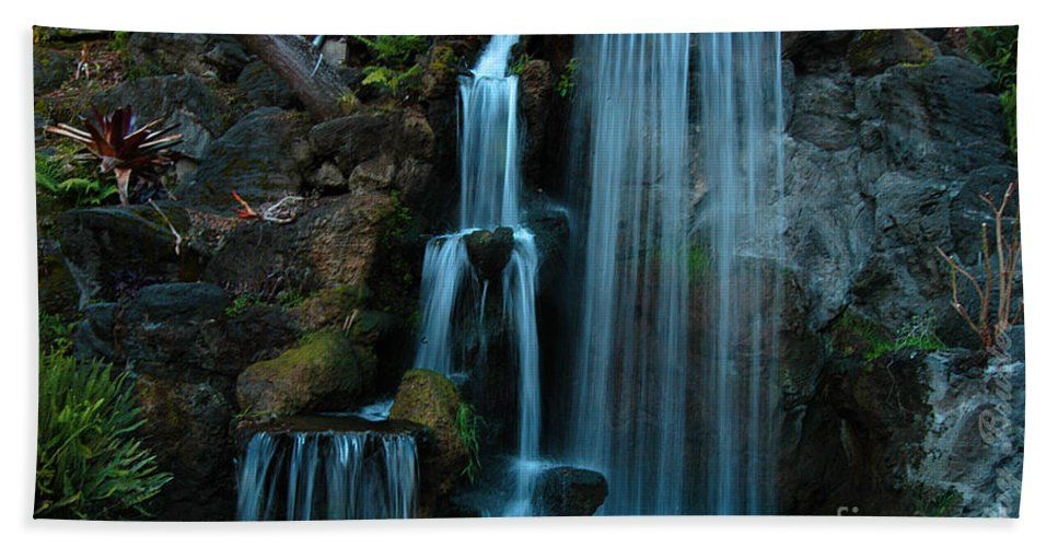 Clay Beach Sheet featuring the photograph Waterfalls by Clayton Bruster
