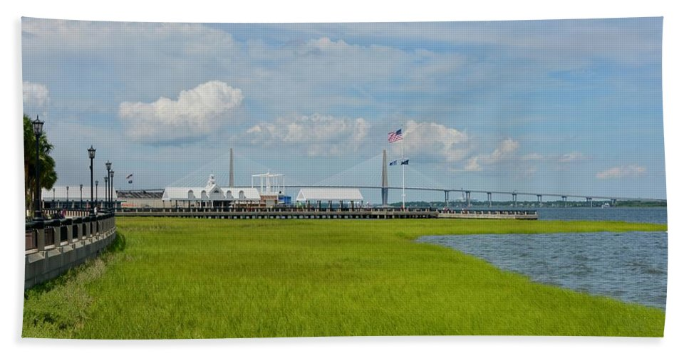 Charleston Beach Towel featuring the photograph Waterfront Park Charleston by Greg Joens