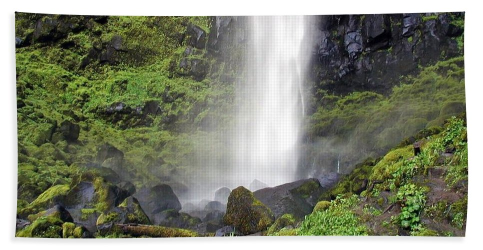 Oregon Beach Towel featuring the photograph Watson Falls by Rich Bodane