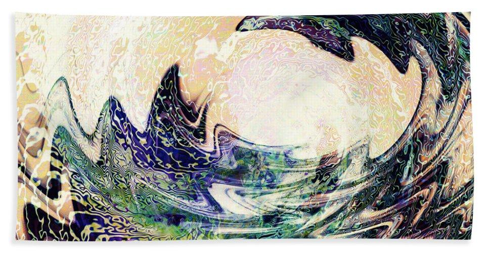 Ocean Beach Towel featuring the digital art Wave by Barbara Berney