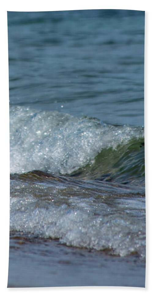 Waves Beach Towel featuring the photograph Waves by ChelleAnne Paradis
