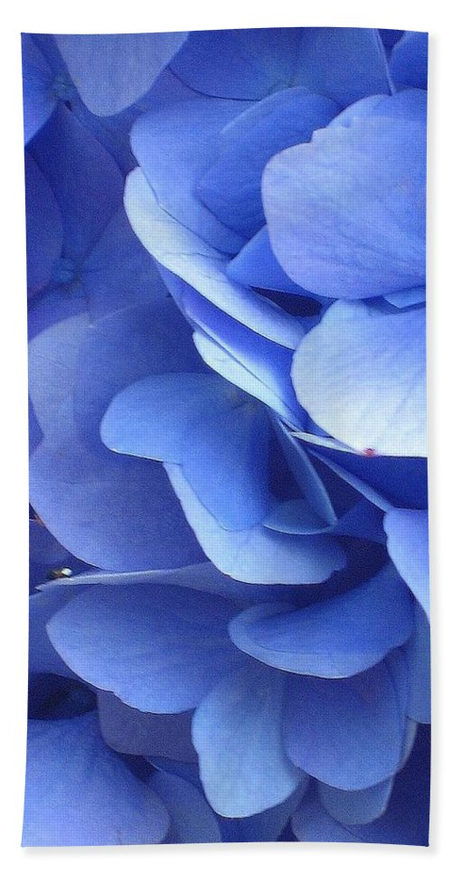 Floral Beach Towel featuring the photograph Waves Of Blue by Marla McFall