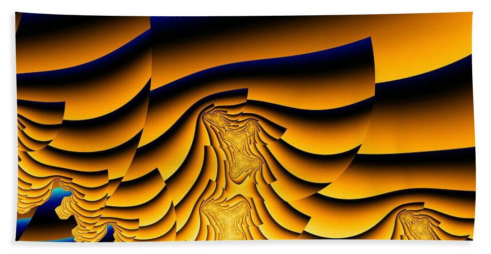 Fractal Image Beach Sheet featuring the digital art Waves Of Grain by Ron Bissett
