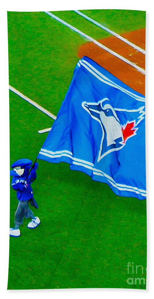 Toronto Beach Towel featuring the photograph Waving The Flag For The Home Team   The Toronto Blue Jays by Nina Silver