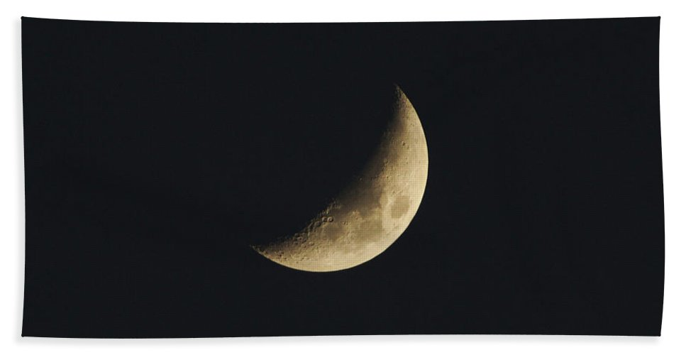 Moon Beach Towel featuring the photograph Waxing Crescent Spring 2017 by Jason Coward