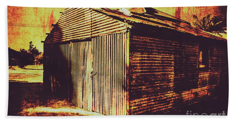 Texture Beach Towel featuring the photograph Weathered Vintage Rural Shed by Jorgo Photography - Wall Art Gallery