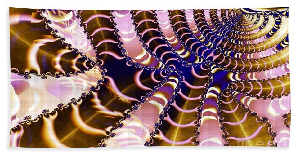 Spider Beach Towel featuring the digital art Web by Ron Bissett