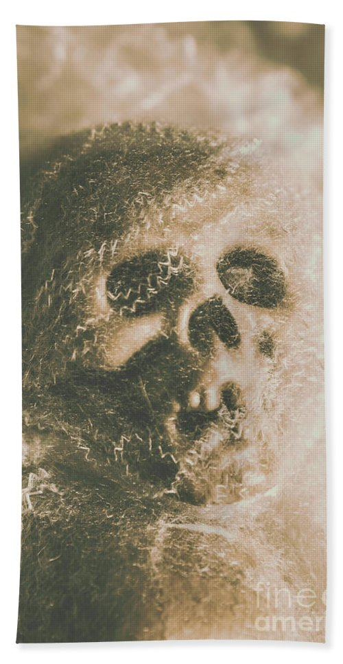 Bone Beach Towel featuring the photograph Webs And Dead Heads by Jorgo Photography - Wall Art Gallery